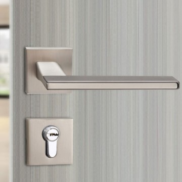 Duo 243 Designer Lever Handle on rose & Mortise Lock Set