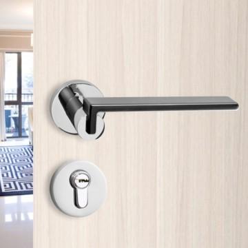 Duo 251 Designer Lever Handle on rose & Mortise Lock Set