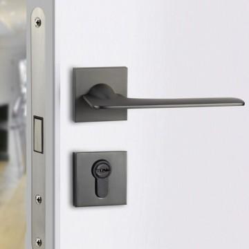 Lagom 206 Designer Lever Handle on rose & Mortise Lock Set