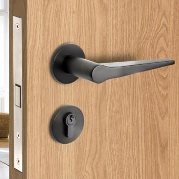 Lagom 237 Designer Lever Handle on rose & Mortise Lock Set