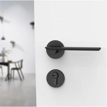 Lagom ZA4204 Designer Lever Handle on rose & Mortise Lock Set