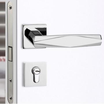Minutiae 209 Designer Lever Handle on rose & Mortise Lock Set