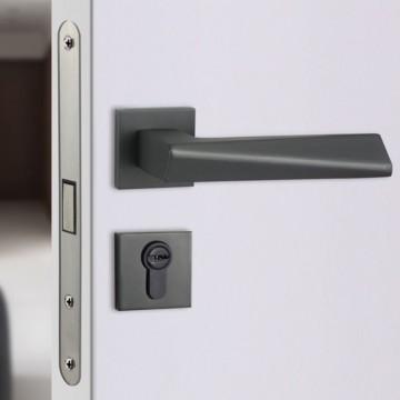 Minutiae 217 Designer Lever Handle on rose & Mortise Lock Set
