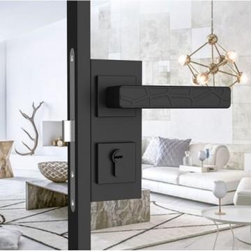 Orphic 221 Designer Lever Handle on rose & Mortise Lock Set
