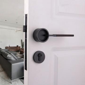 Duo ZA4101 Designer Lever Handle on rose & Mortise Lock Set