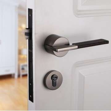 Duo ZA4104 Designer Lever Handle on rose & Mortise Lock Set