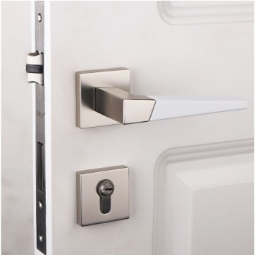 Duo ZA9110 Designer Lever Handle on rose & Mortise Lock Set
