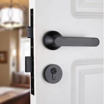 Lagom ZA4105 Designer Lever Handle on rose & Mortise Lock Set