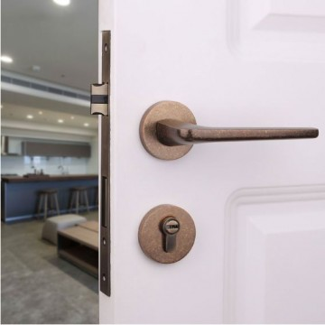 Lagom ZA4109 Designer Lever Handle on rose & Mortise Lock Set