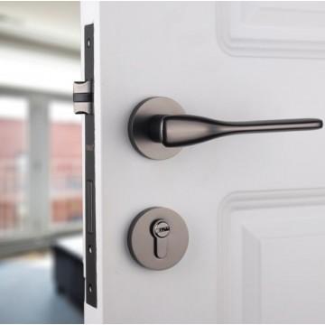 Lagom ZA4115 Designer Lever Handle on rose & Mortise Lock Set