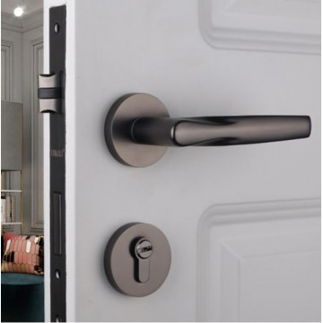 Lagom ZA4116 Designer Lever Handle on rose & Mortise Lock Set