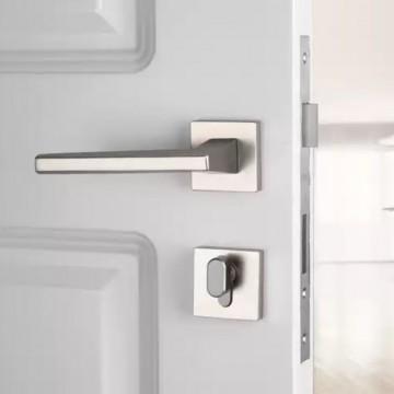 Lagom ZA9109 Designer Lever Handle on rose & Mortise Lock Set